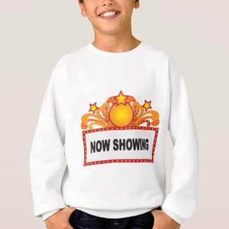 Retro Marquee Sign with Lights Illustration Sweatshirt