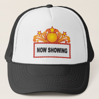 Retro Marquee Sign with Lights Illustration Trucker Hat