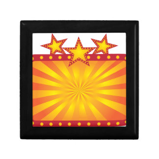 Retro Marquee Sign with Sun Rays Illustration Gift Box