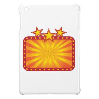 Retro Marquee Sign with Sun Rays Illustration iPad Mini Case