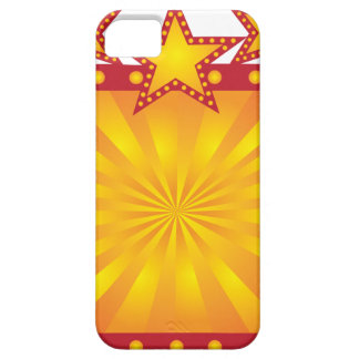 Retro Marquee Sign with Sun Rays Illustration iPhone 5 Cases