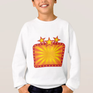 Retro Marquee Sign with Sun Rays Illustration Sweatshirt