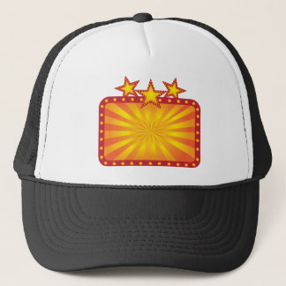 Retro Marquee Sign with Sun Rays Illustration Trucker Hat