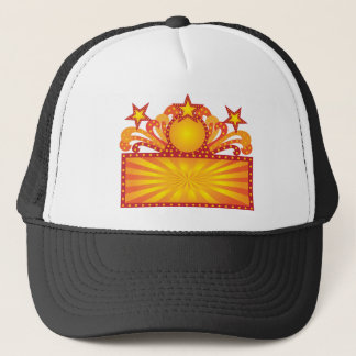 Retro Marquee Sign with Sunrays Stars Illustration Trucker Hat