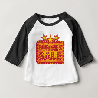Retro Marquee Summer Sale Sign Illustration Baby T-Shirt