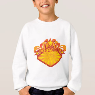 Retro Marquee Welcome Sign Illustration Sweatshirt