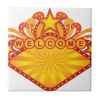 Retro Marquee Welcome Sign Illustration Tile