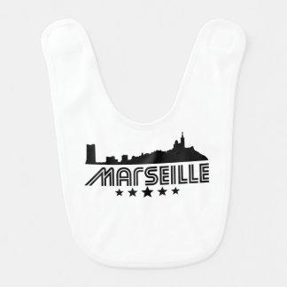 Retro Marseille Skyline Bib