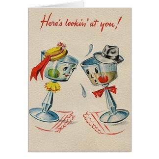 Retro Martini Anniversary Card