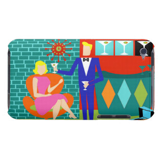 Retro Martini Couple iPod Touch Case