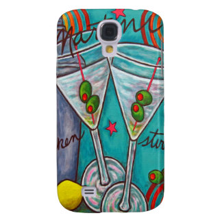 Retro Martini iPhone3 Case by Lisa Lorenz