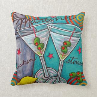 """Retro Martini Polyester Throw Pillow 16"""" x 16"""""""