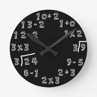 Retro Math Problems Clock