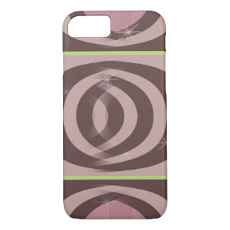 RETRO MAUVE PATTERN Case-Mate Barely There iPhone iPhone 7 Case