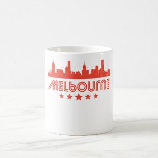 Retro Melbourne Skyline Coffee Mug