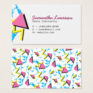 Retro Memphis Inspired Pattern Business Card