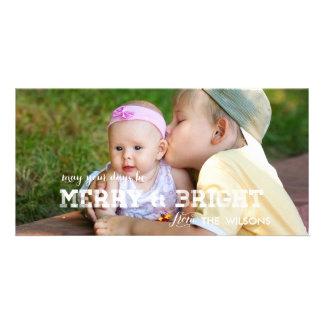 Retro Merry and Bright | Holiday Photo Card