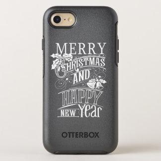 Retro Merry Christmas & Happy New Year OtterBox Symmetry iPhone 7 Case