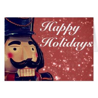 Retro Merry Christmas Holiday Vintage Nutcracker Card