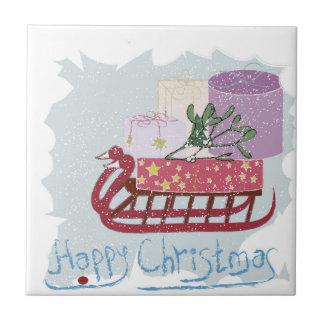 Retro . Merry Christmas! Tile