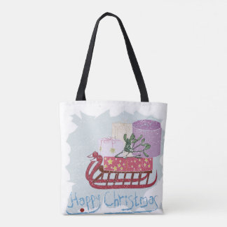 Retro . Merry Christmas! Tote Bag