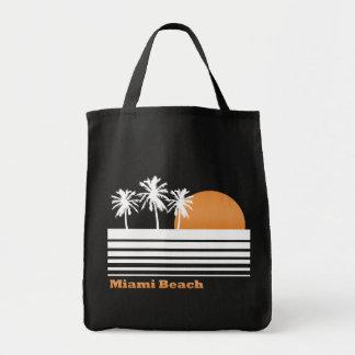 Retro Miami Beach Canvas Bag