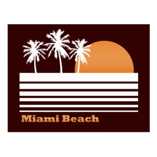 Retro Miami Beach Postcard