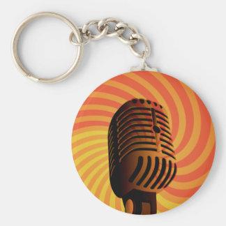 Retro Microphone custom key chain