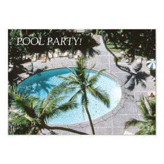 Retro Mid-century Inspired Pool Party 1950's Theme Card