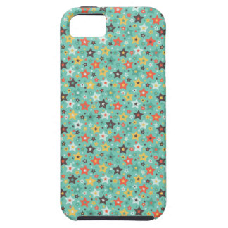 Retro Mint stars iPhone 5 Case