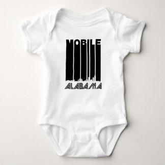 Retro Mobile Alabama Skyline Baby Bodysuit
