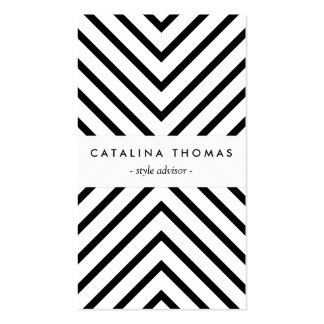 Retro Mod Black and White Pattern Vertical Pack Of Standard Business Cards