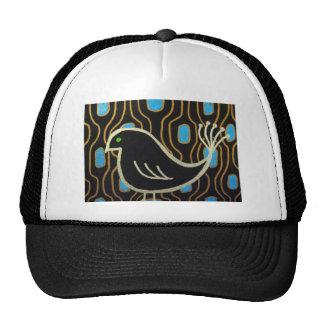Retro Mod Black Bird Cap