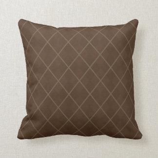 Retro Mod Brown Argyle Throw Pillow