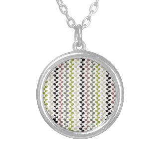 Retro Mod Multicolored Leaf Pattern Necklace