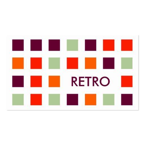 RETRO (mod squares) Business Cards