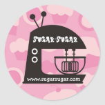Retro mod stand mixer baking gift stickers pink
