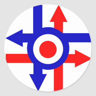 Retro Mod target and Arrows design Classic Round Sticker