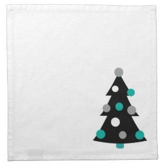 Retro Modern Christmas Tree Napkin
