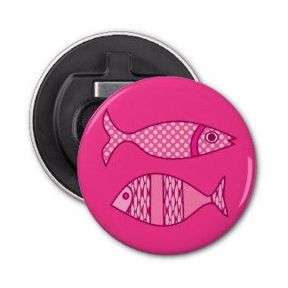 Retro Modern Fish, Fuchsia, Light Pink, Deep Pink