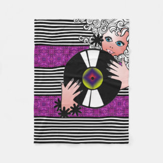 Retro, Modern & Girly Fleece Blanket