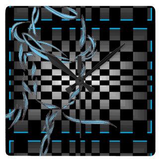 Retro Modern Metro Op Art Man CricketDiane Wallclocks