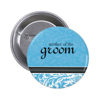Retro Modern Thistle-Mother of the Groom Button