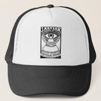 retro modern vintage advertisement: Keyzer Optical Trucker Hat