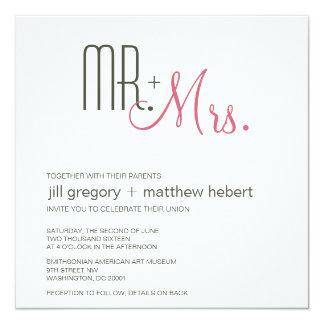 Retro Modern Wedding 13 Cm X 13 Cm Square Invitation Card