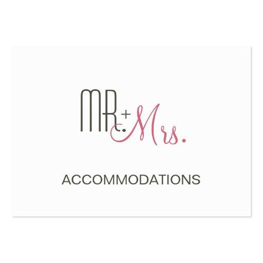Retro Modern Wedding Accommodations Business Card Template