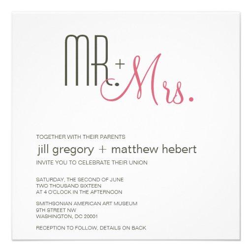 Retro Modern Wedding Personalized Announcements