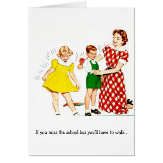 Retro Mom - Can't Drink and Drive, Card