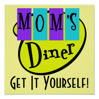 Retro MOM'S DINER Wall Art