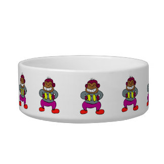 Retro Monkey with Cymbals Toy Bowl